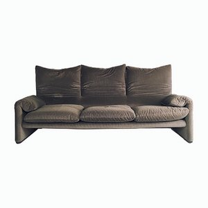 Vintage Maralunga Three-Seater Sofa by Vico Magistretti for Cassina