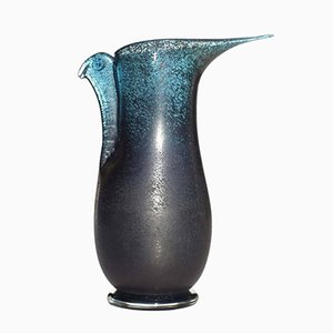 Barbarico Murano Glass Vase by Ercole Barovier, 1970s