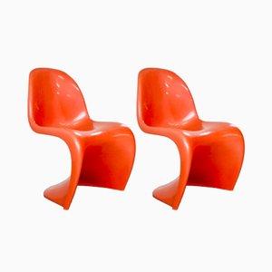 S Stühle von Verner Panton für Fehlbaum, 1973, 2er Set