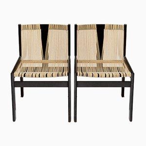 Schnurstuhl Chairs by Robert Haussmann, 1950s, Set of 2