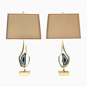 Lampes de Bureau Sculpturales par Willy Daro, Set de 2