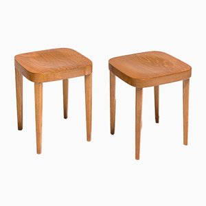Swiss Wooden Stools from Tütsch, 1955, Set of 2