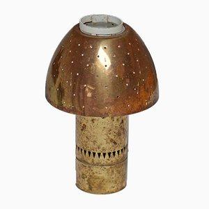 Lampe de Bureau Perforé en Laiton par Hans Agne Jakobsson, Suède, 1960s