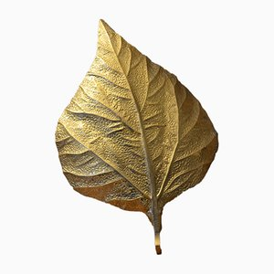 Vintage Leaf Wall Sconce by Tommaso Barbi for G & G