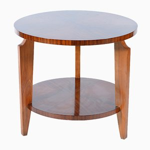 French Art Deco Round Side Table, 1940s