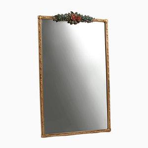 Großer rechteckiger Vintage Barbola Spiegel