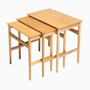 Table Gigognes AT-40 par Hans J. Wegner pour Andreas Tuck, 1960s