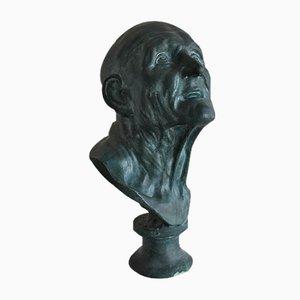 Busto de escayola recubierta de bronce, siglo XIX