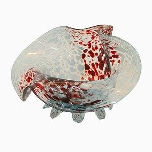 Cuenco modernista de vidrio
