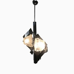 Lámpara de araña italiana Mid-Century de Mazzega