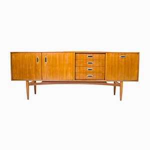 Mid-Century Scandi Metal Handle Sideboard by Victor Wilkins for G-Plan