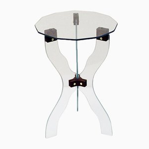 Mesa de centro italiana de cristal cortado, años 50