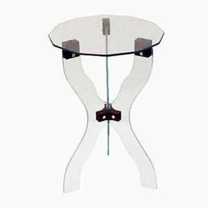 Table Basse en Cristal Taillé, Italie, 1950s