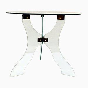 Table Basse en Cristal Taillé, 1950s