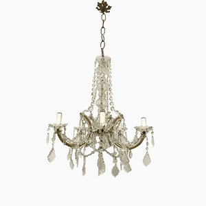 Vintage Italian Crystal Glass Maria Theresa Chandelier