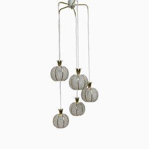 Cascading Pineapple Ceiling Lamp by Emil Stejnar for Rupert Nikoll, 1950s