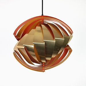 Konkylie Pendant by Louis Weisdorf for Lyfa, 1960s