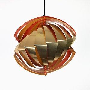Lampada Konkylie di Louis Weisdorf per Lyfa, anni '60