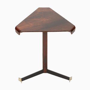 Triangular Rosewood Side Table by Jorge Zalsupin for L'Atelier, 1950s