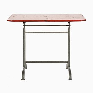 Red Garden Table from Bigla, 1930s