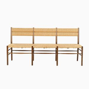 Italian Beech Entrance Bench, 1950s