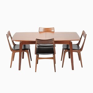 Boomerang Dining Set by Erik Christensen for Slagelse, 1950s