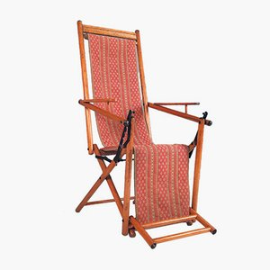Antique Foldable Deck Chair