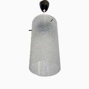 Vintage Plexiglas Deckenlampe von Nikoll, 1950er
