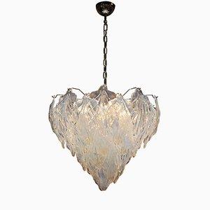Lámpara en suspensión de cristal de Murano, años 60