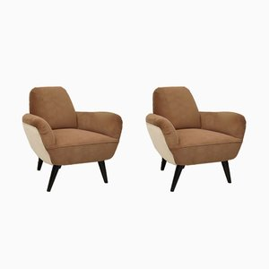 Art Deco Armchairs, 1940s, Set of 2