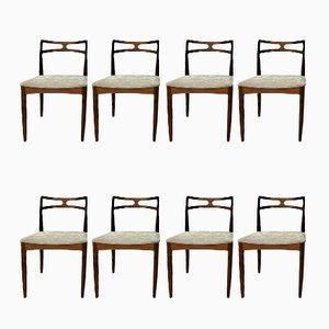 Chaises de Salon en Palissandre par Johannes Andersen pour Christian Linneberg, Danemark, Set de 8