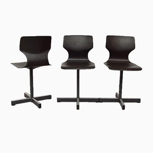 Pagwood Chairs by Adam Stegner for Flötotto, 1970s, Set of 3