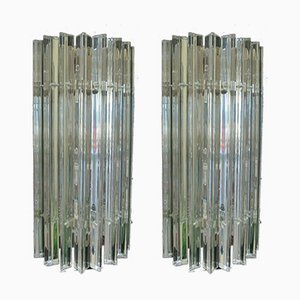 Vintage Murano Glas Wandleuchten, 2er Set