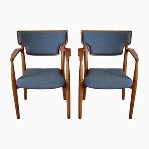 Portex Armchairs by Peter Hvidt & Orla Mølgaard-Nielsen for Fritz Hansen, 1940s, Set of 2