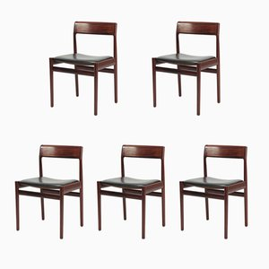 Rosewood Chairs by Johannes Norgaard, 1960s, Set of 5