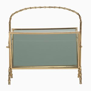 Faux Bamboo Magazine Rack from Maison Bagues, 1940s