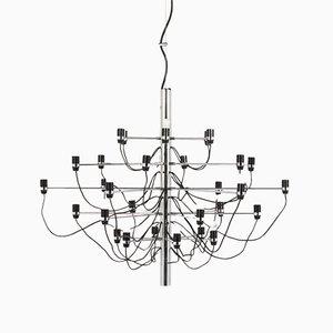 Lámpara de araña modelo 2097/30 italiana de Gino Sarfatti para Arteluce, años 70