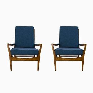Vintage marineblauer Sessel von Parker Knoll, 1960er, 2er Set