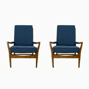 Vintage Navy Blue Armchair from Parker Knoll, 1960s, Set of 2