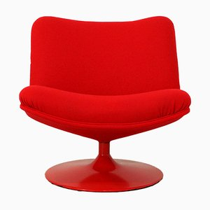 Model F504 Red Lounge Chair by Geoffrey Harcourt for Artifort, 1970s