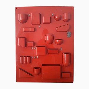 Pannello da parete con scomparti Uten.silo I di Ingo Maurer & Dorothee Becker per Design M, 1969