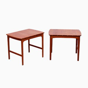 Solid Teak Side Tables by Yngvar Sandström for Säffle Möbelfabrik, 1960s, Set of 2