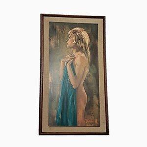 Impresión Aurora Mid-Century enmarcada de Betty Raphael, años 60