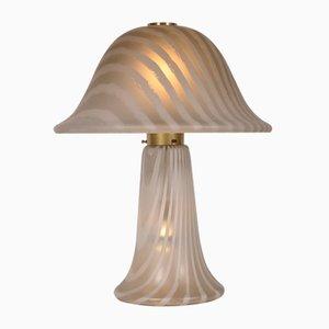 Lámpara de mesa de vidrio de Peill & Putzler, años 70