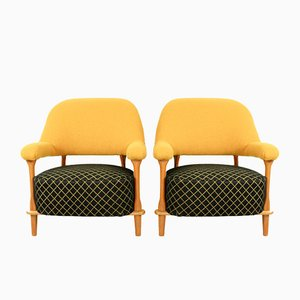 Model 109 Lounge Chairs by Theo Ruth for Artifort, 1955, Set of 2