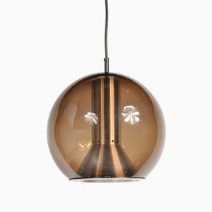 Lámpara colgante Globe de Frank Ligtelijn para Raak, años 60