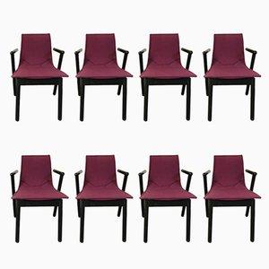 Villabianca Stühle von Vico Magistretti für Cassina, 8er Set, 1980er