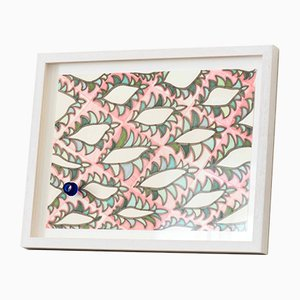 Obras en papel originales con fragmentos de vidrio de Juli Bolaños-Durman, 2017