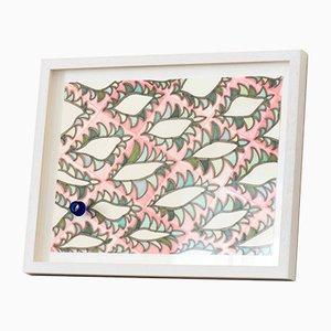 Originalarbeiten auf Papier mit handgeschnittenem Glasfragment von Juli Bolaños-Durman