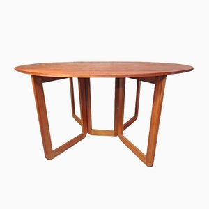 Table en Teck Extensible, Danemark, 1960s
